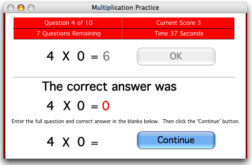 Master the Facts Multiplication
