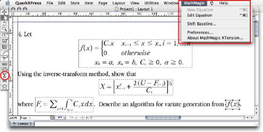 MathMagic Pro for QuarkXPress