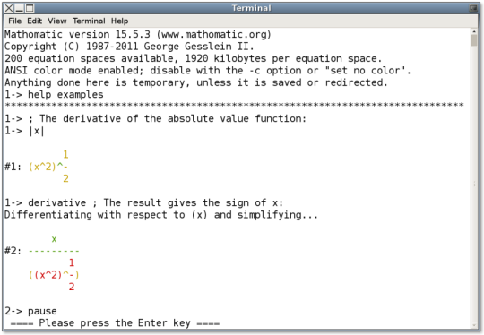 Mathomatic for ubuntu (64-bit)