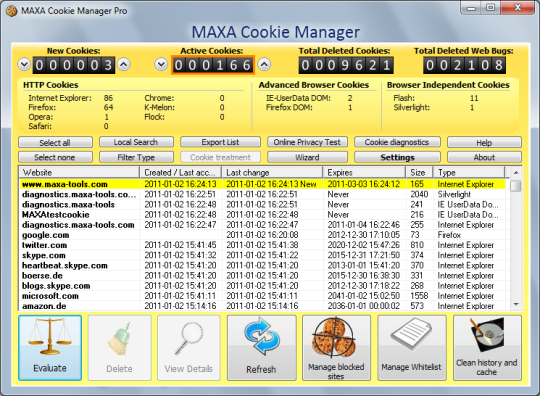 MAXA Cookie Manager