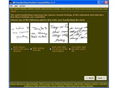 MB Handwriting Analysis Compatibility