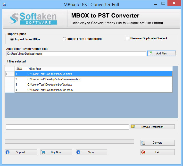 MBOX to PST for Thunderbird to Outlook