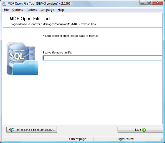 MDF Open File Tool