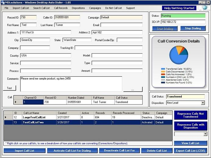 MDLsolutions Windows Desktop Auto Dialer