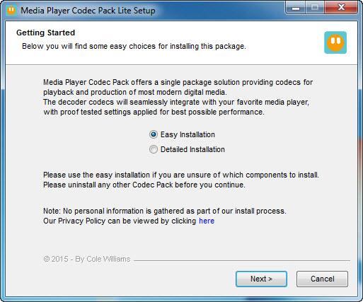 Media Player Codec Pack Lite
