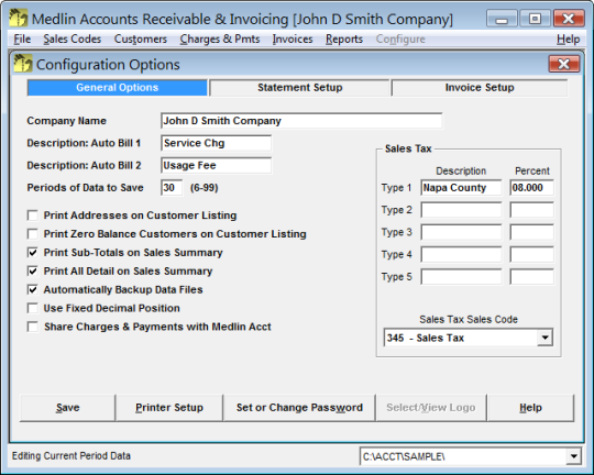 Medlin Accounts Receivable and Invoicing