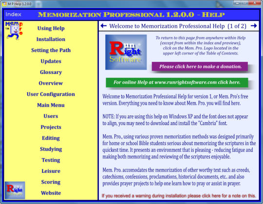 Memorization Professional Help