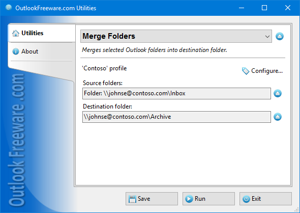 Merge Folders for Outlook