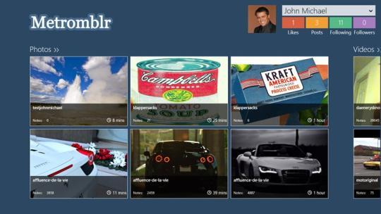 Metromblr for Windows 8