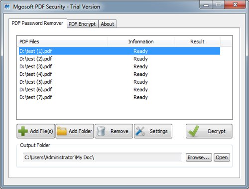 Mgosoft PDF Security