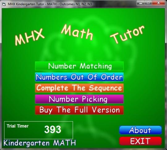 MHX Math Tutor - Kindergarten