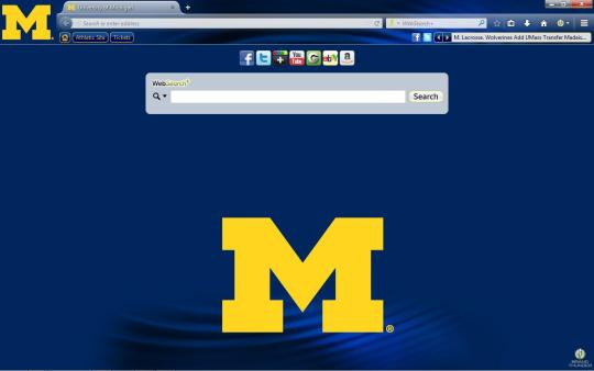 Michigan Wolverines Theme for Firefox