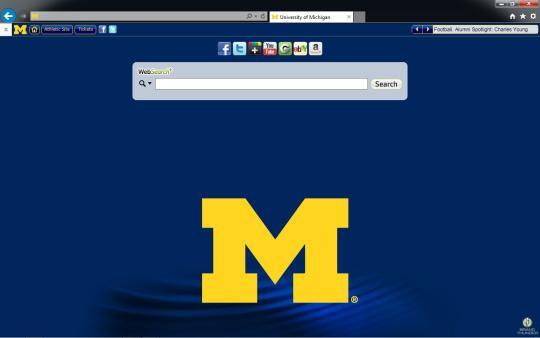 Michigan Wolverines Theme for Internet Explorer