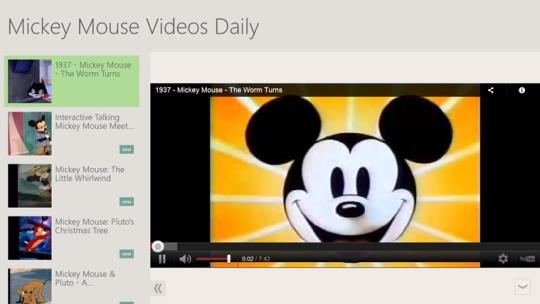Mickey Mouse Videos Daily for Windows 8