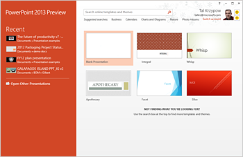 Microsoft Office 2013 Preview