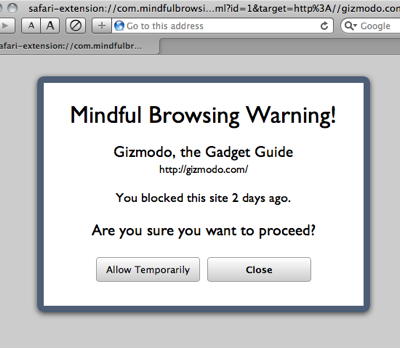 Mindful Browsing