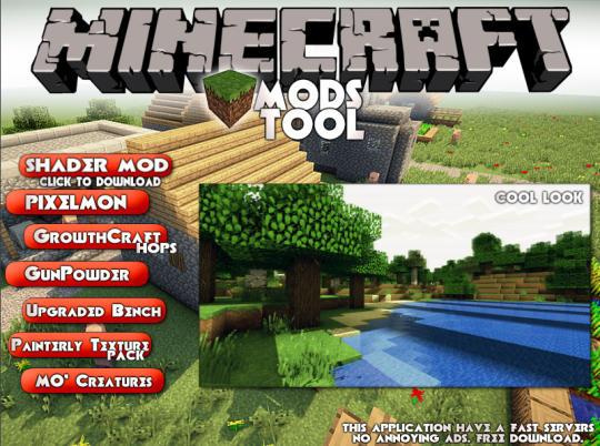 Minecraft Mods Tool