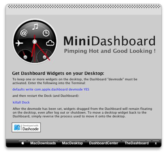 MiniDashboard