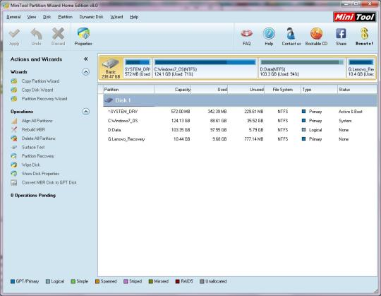 MiniTool Partition Wizard Home Edition