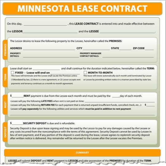 Minnesota Lease Contract