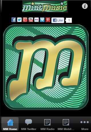 Mint Music Mobile Web Based App