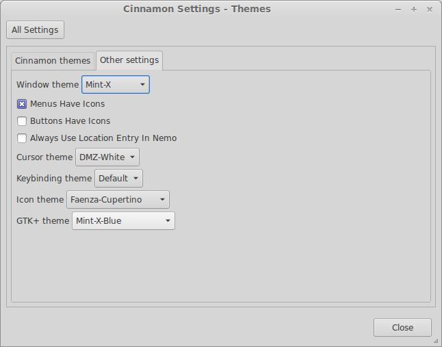 Mint-X-Colors for GTK2