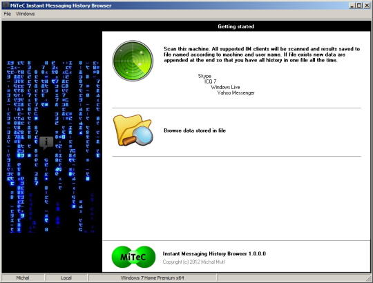 MiTeC Instant Messaging History Browser