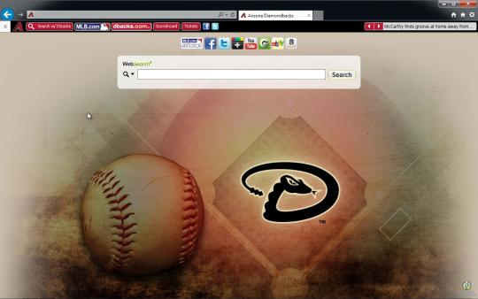 MLB Arizona Diamondbacks Browser Theme for Internet Explorer