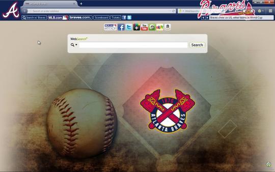 MLB Atlanta Braves Browser Theme for Firefox