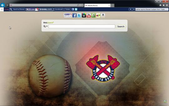MLB Atlanta Braves Browser Theme for Internet Explorer