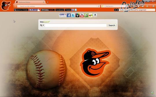 MLB Baltimore Orioles Browser Theme for Firefox
