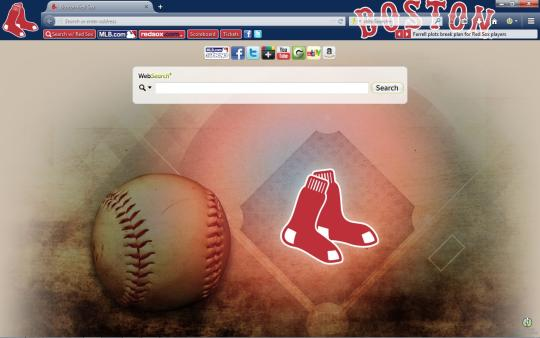 MLB Boston Red Sox Theme for Firefox