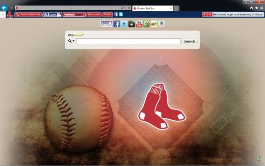 MLB Boston Red Sox Theme for Internet Explorer