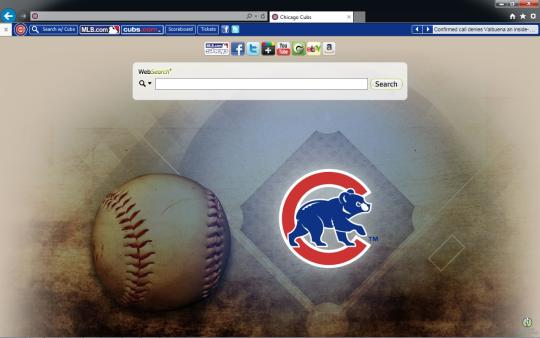 MLB Chicago Cubs Theme for Internet Explorer