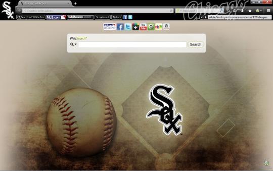 MLB Chicago White Sox Theme for Firefox