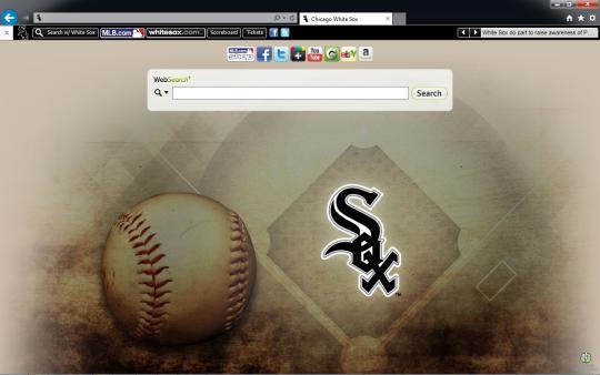 MLB Chicago White Sox Theme for Internet Explorer