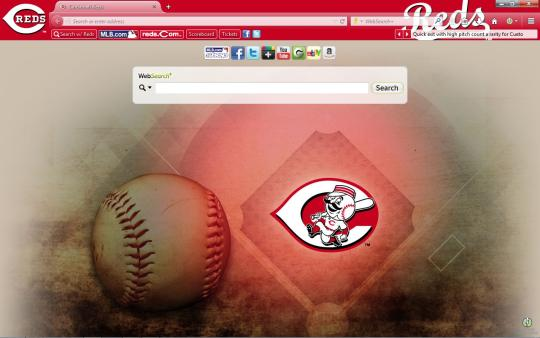 MLB Cincinnati Reds Theme for Firefox