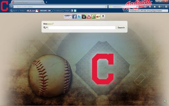 MLB Cleveland Indians Theme for Firefox