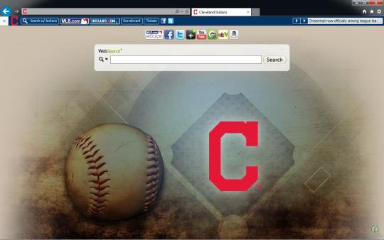 MLB Cleveland Indians Theme for Internet Explorer