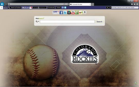 MLB Colorado Rockies Theme for Internet Explorer