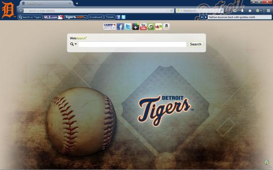 MLB Detroit Tigers Theme for Firefox
