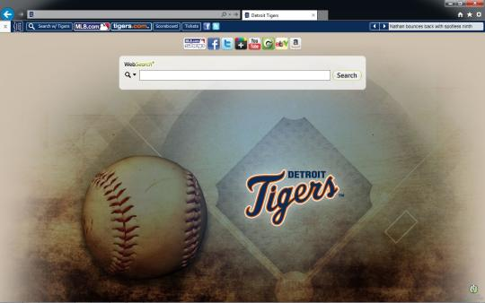 MLB Detroit Tigers Theme for Internet Explorer