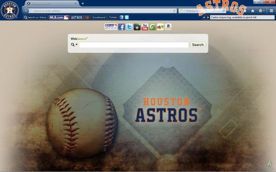 MLB Houston Astros Theme for Firefox