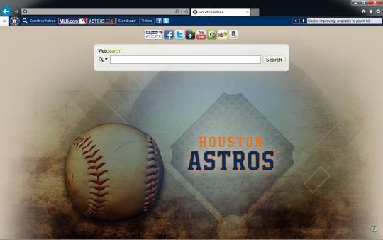 MLB Houston Astros Theme for Internet Explorer