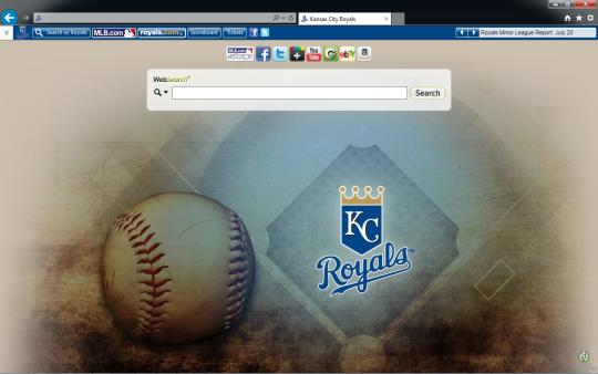 MLB Kansas City Royals Theme for Internet Explorer