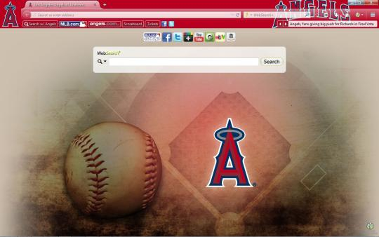MLB Los Angeles Angels of Anaheim Theme for Firefox
