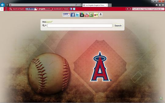 MLB Los Angeles Angels of Anaheim Theme for Internet Explorer
