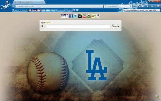 MLB Los Angeles Dodgers Theme for Firefox