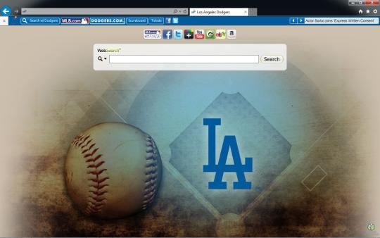 MLB Los Angeles Dodgers Theme for Internet Explorer