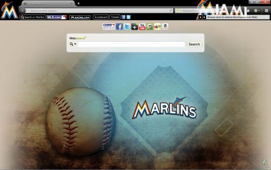MLB Miami Marlins Theme for Firefox
